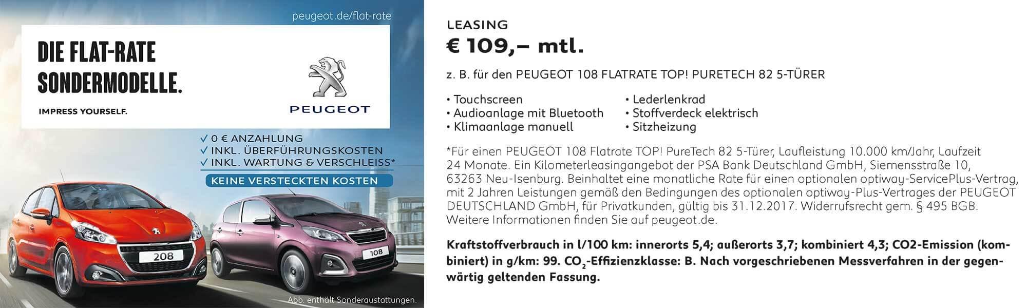 Leasing Angebot Peugeot